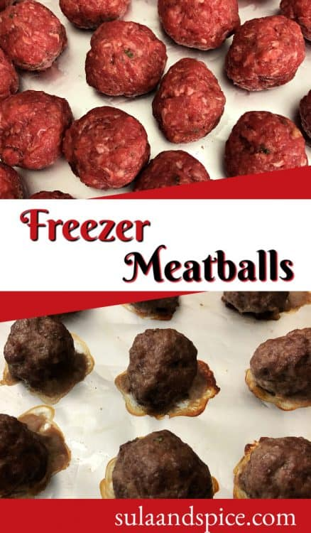 Pin for freezer meatballs