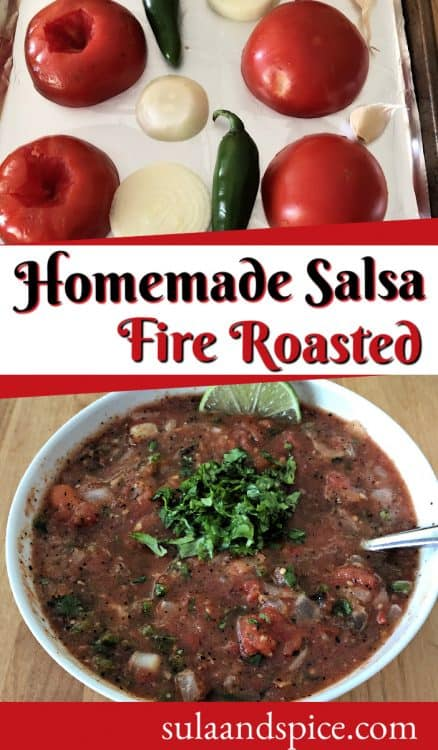 Pin for Fire roasted salsa