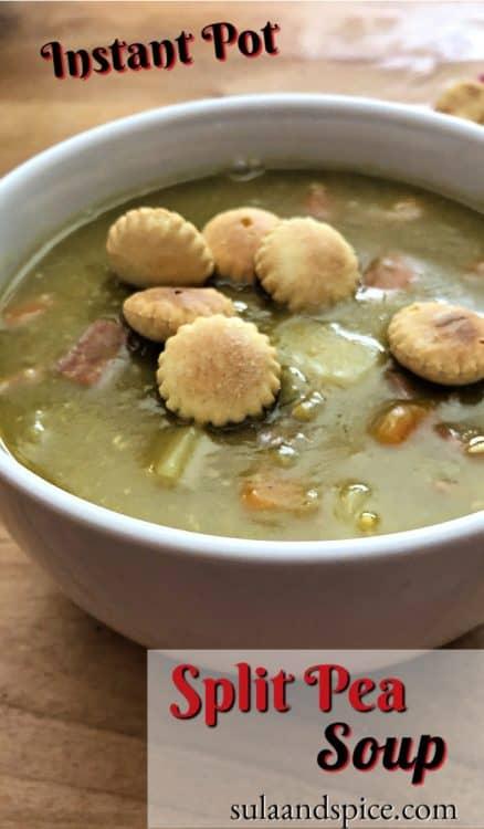 Pin for Instant Pot Split Pea Soup