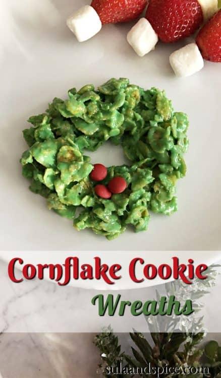 Cornflake Marshmallow Wreath pin