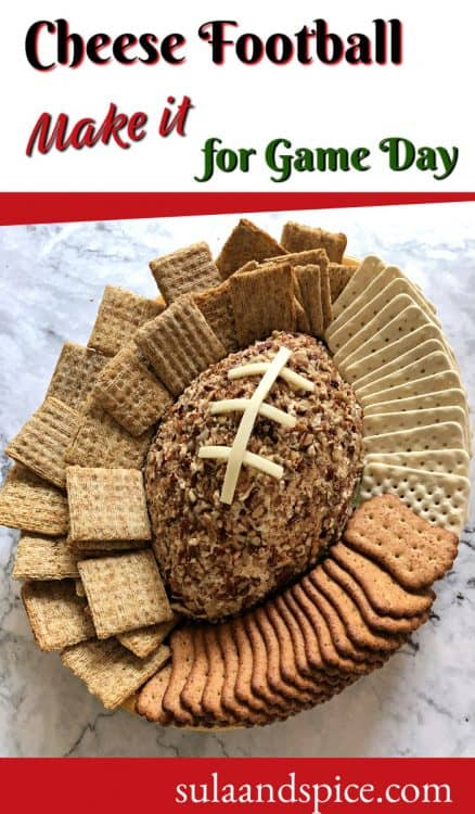 pin for football shaped cheese ball