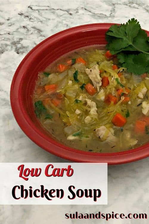 pin for low carb chicken soup