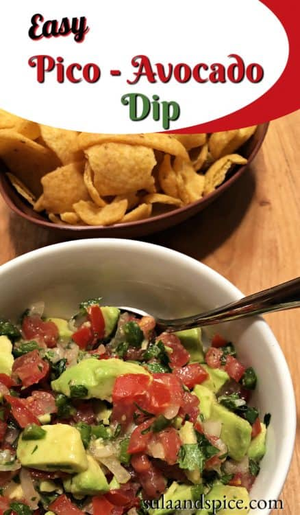 Pin for Pico de Gallo with Avocado dip