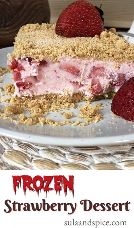 pin for frozen strawberry dessert