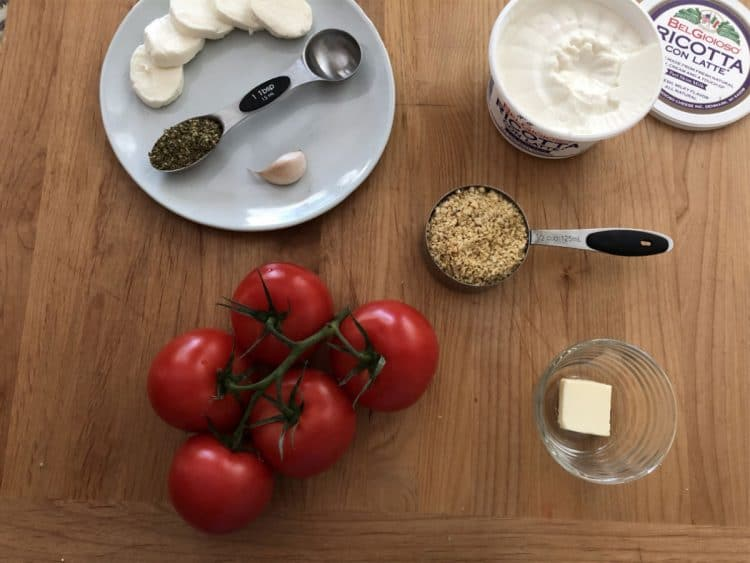 Ingredients needed for stuffed tomatoes