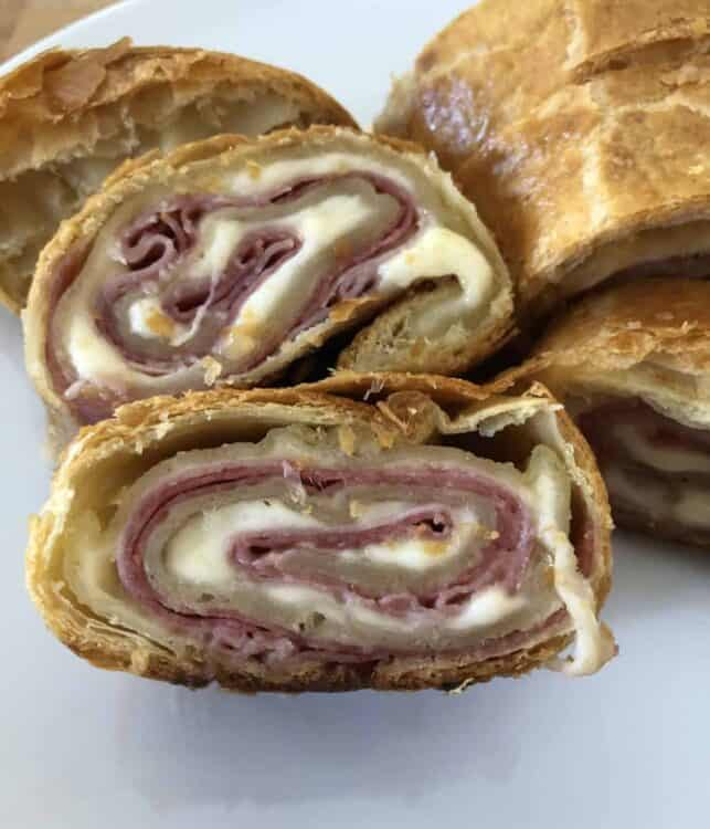 meat stromboli in puff pastry