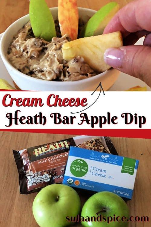heath bar apple dip pin
