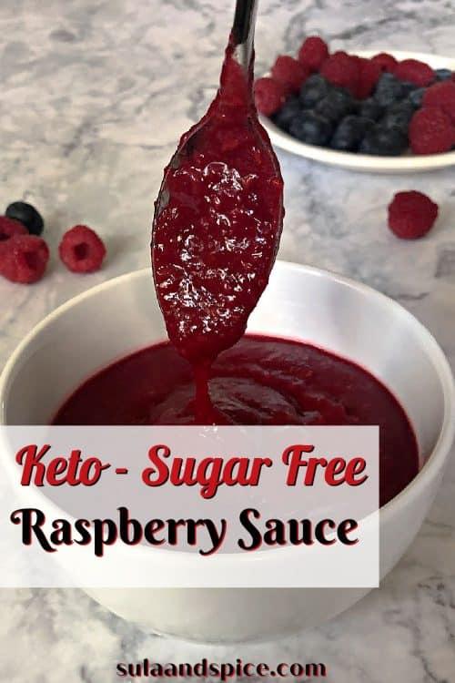 pin for keto raspberry sauce