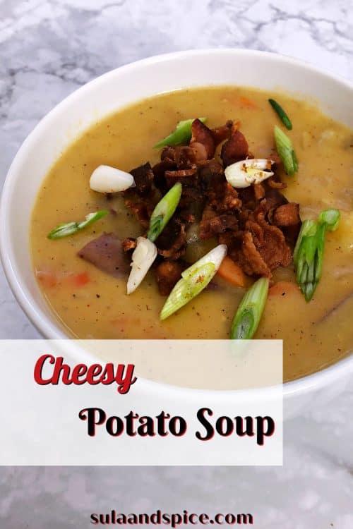 pin for cheesy potato soup
