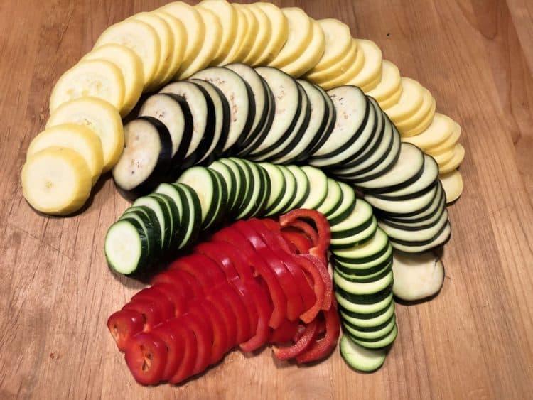 veggies cut up