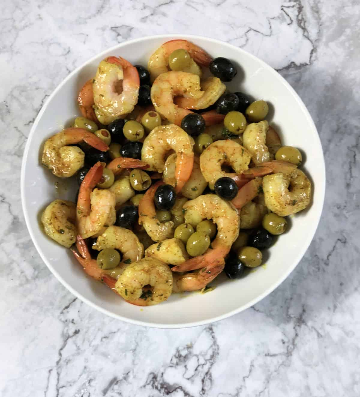 marinated shrimp and olive appetizer