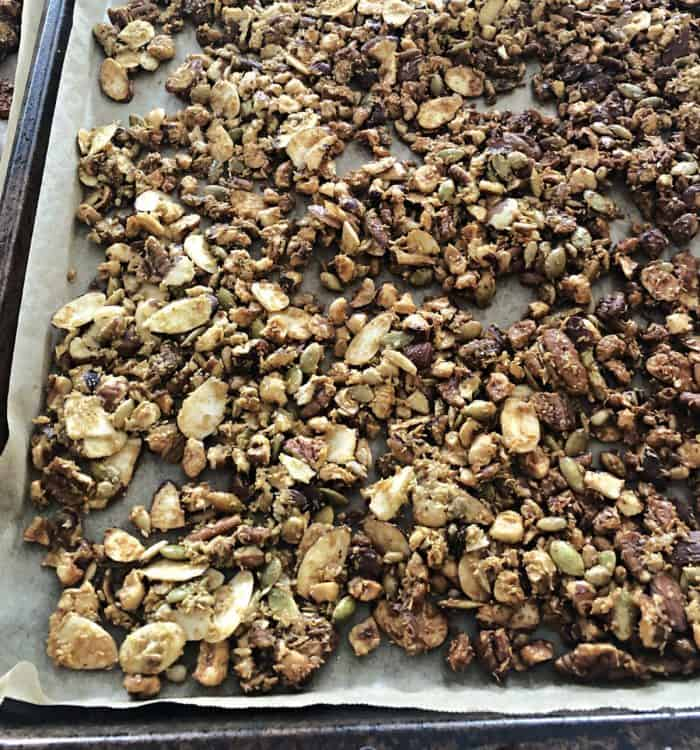 granola just after baking