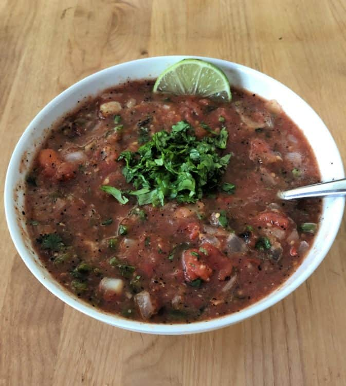 bowl of roasted salsa
