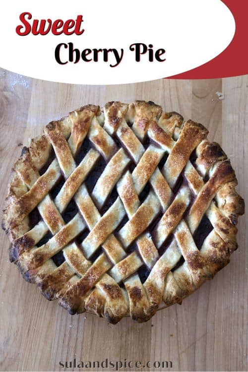 pin for sweet cherry pie