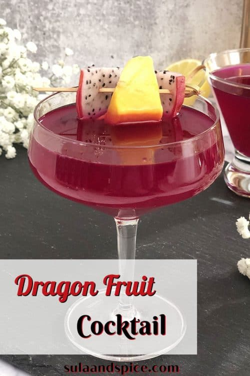 pin for dragon fruit cocktail