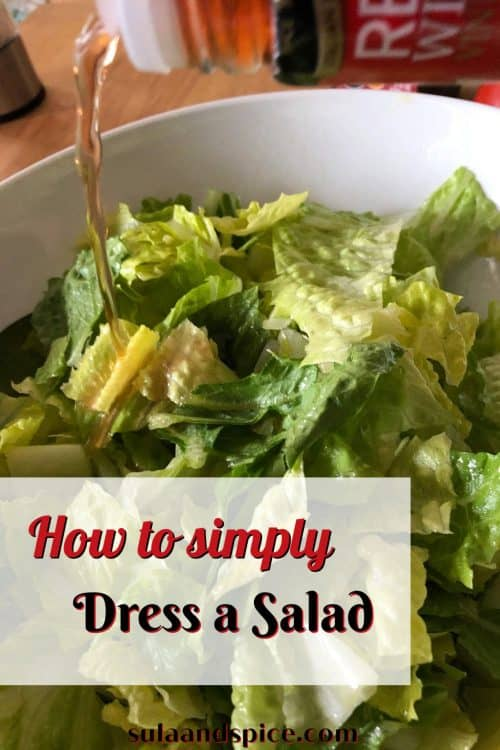 pin for dressing a salad