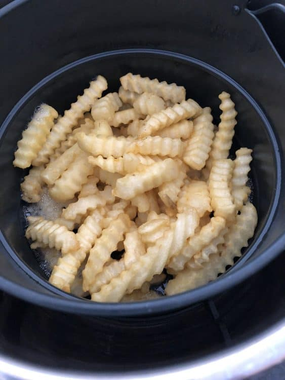 Fries ready to shake