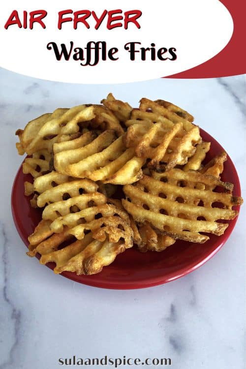 Pin for air fryer waffle fries