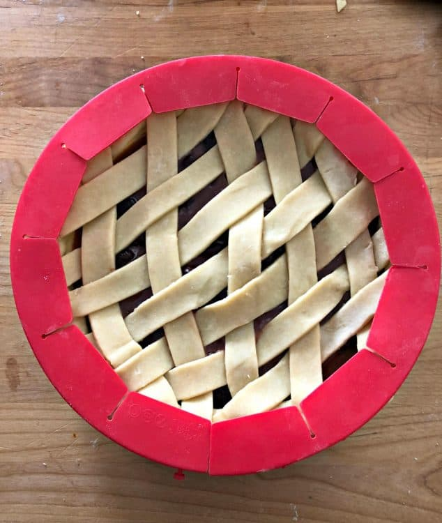 pie shield protecting edges of crust