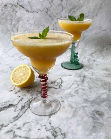 Impeachment margaritas in 2 glasses