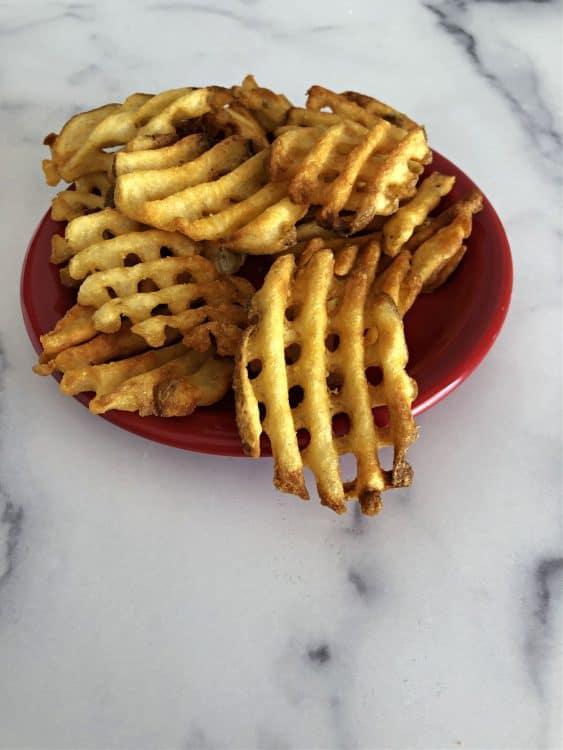 air fried waffle fries