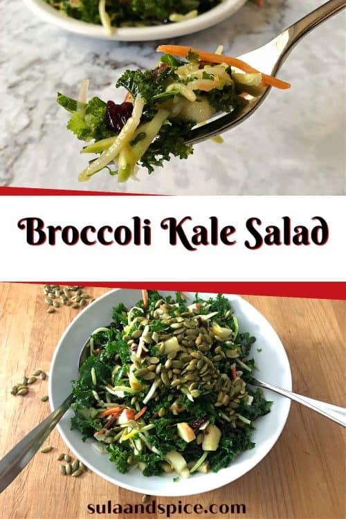 pin for broccoli kale salad