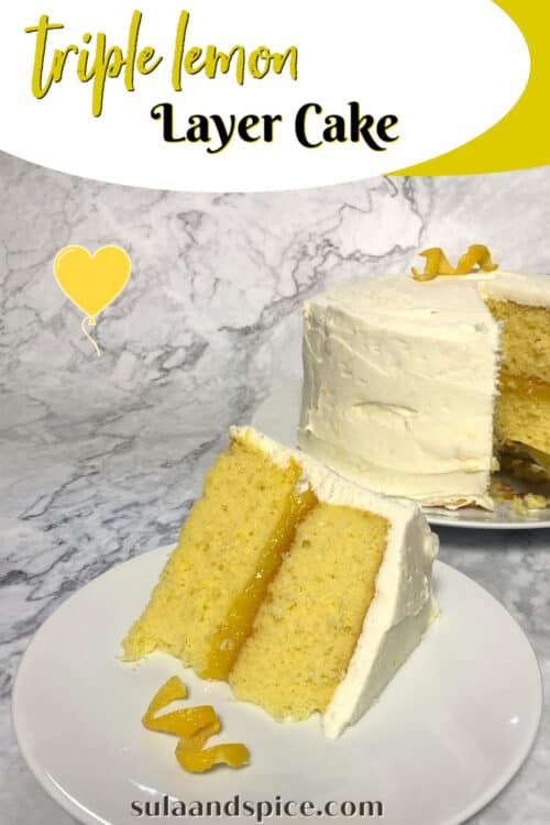 pin for triple lemon layer cake