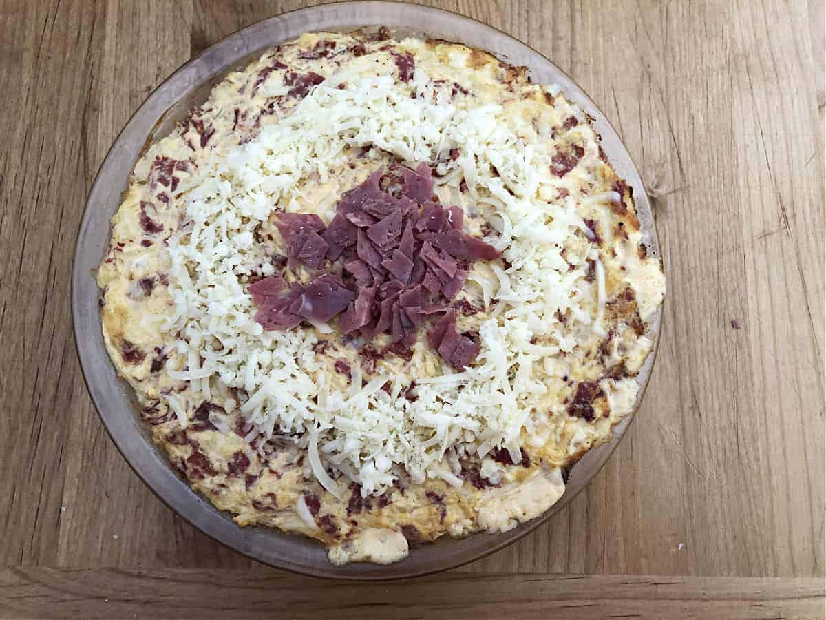 Cheese and Corned Beef added