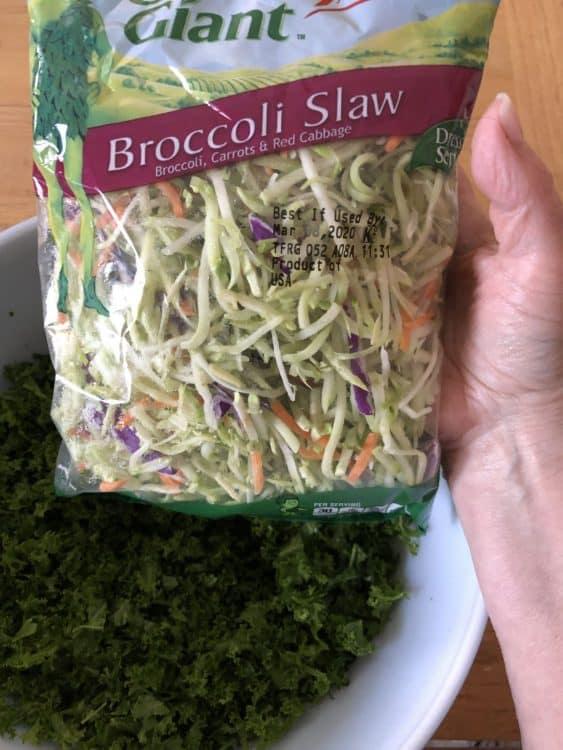 bag of broccoli slaw