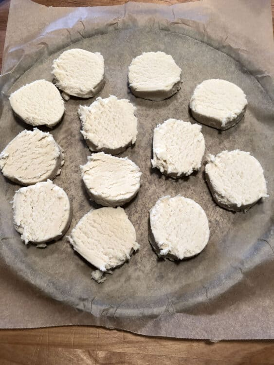 dough slices