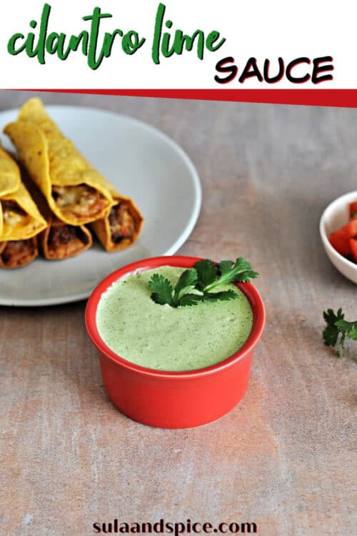 pin for cilantro lime sauce