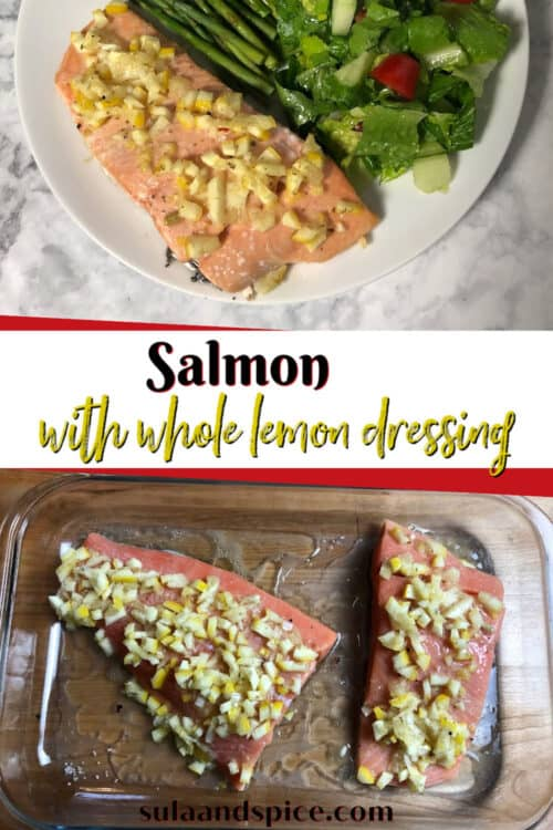 pin for salmon with whole lemon dressing