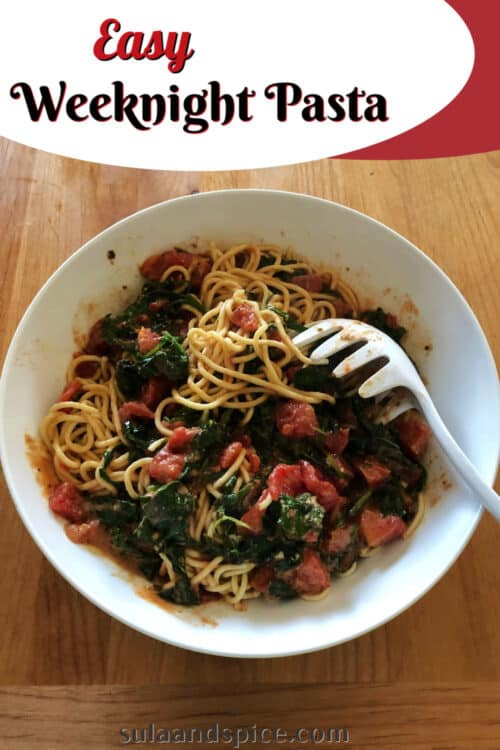 pin for easy weeknight pasta