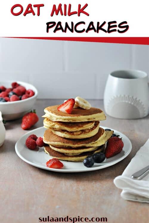 pin for oat milk pancakes