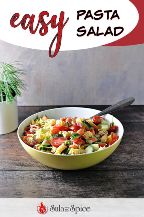 pin for easy pasta salad