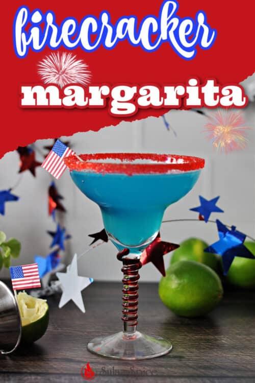 firecracker blue margarita pin