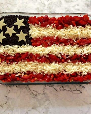 American Flag decorated Taco Dip