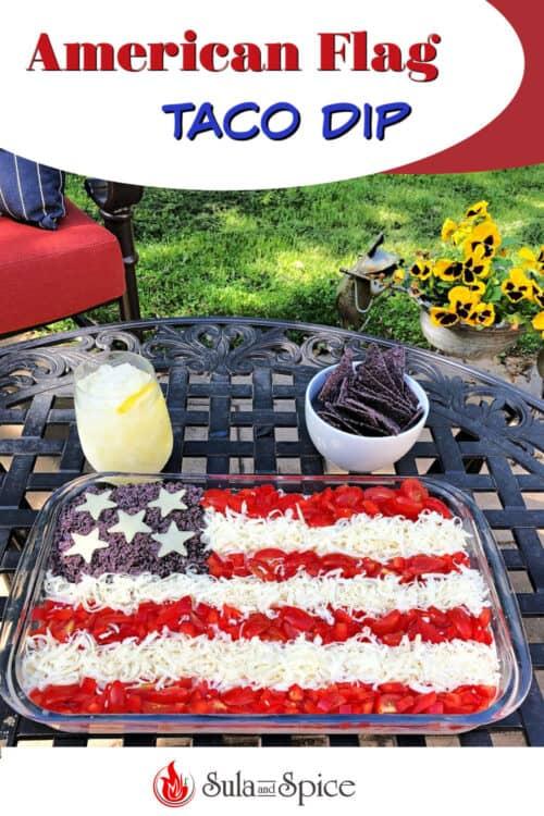 American Flag Taco Dip Pin