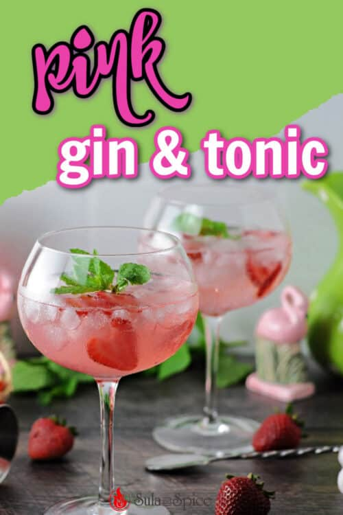 pin for pink gin and tonic