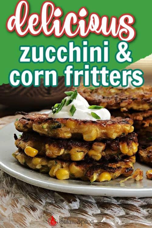 pin for zucchini corn fritters