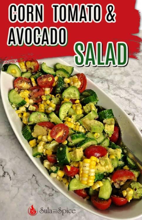 corn tomato avocado salad pin