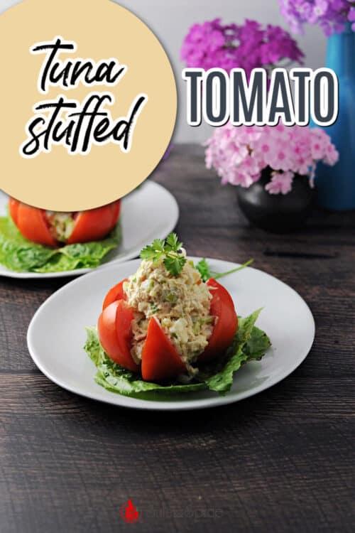 pin for tuna stuffed tomato
