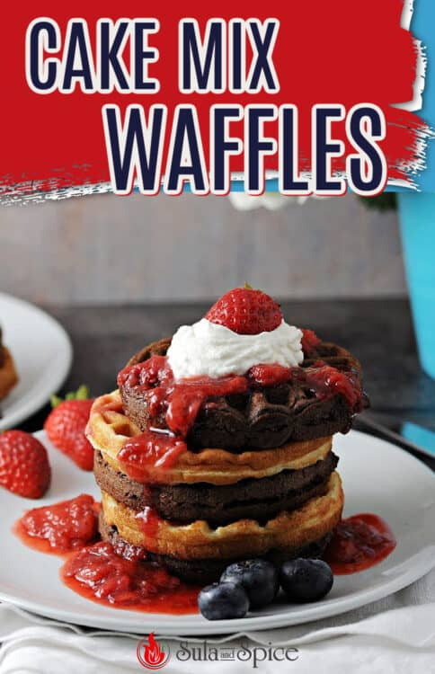 pin for cake mix waffles